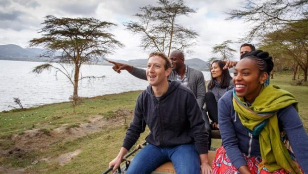 Mark Zuckerberg during his recent visit to Africa