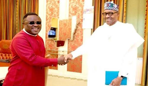 The Governor Ayade (left) a and president Buhari